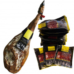 SLICED 50% ACORN-FED IBERIAN CURED HAM Assortment of Iberian acorn-fed product. Minimum curing time 36 months: