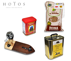 OTHER PRODUCTS Hornazo traditional meat pie from Salamanca, pulses, oil, smoke paprika, pâtés, ham knives, ham stands. Hermanos Hoyos. Salamanca.